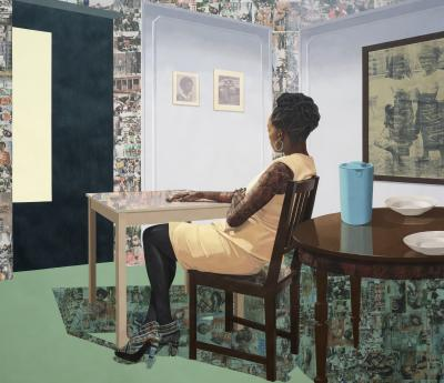 Njideka Akunyilis Crosby. In the Lavender Room, 2019