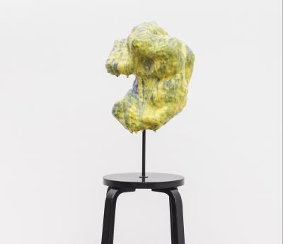 Anders Ruhwald. La Dolce Vita (Adaptable Body - Yellow Purple on used Aalto stool), 2018